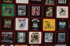 Quilt featuring 20 years of Katsucon T-Shirts